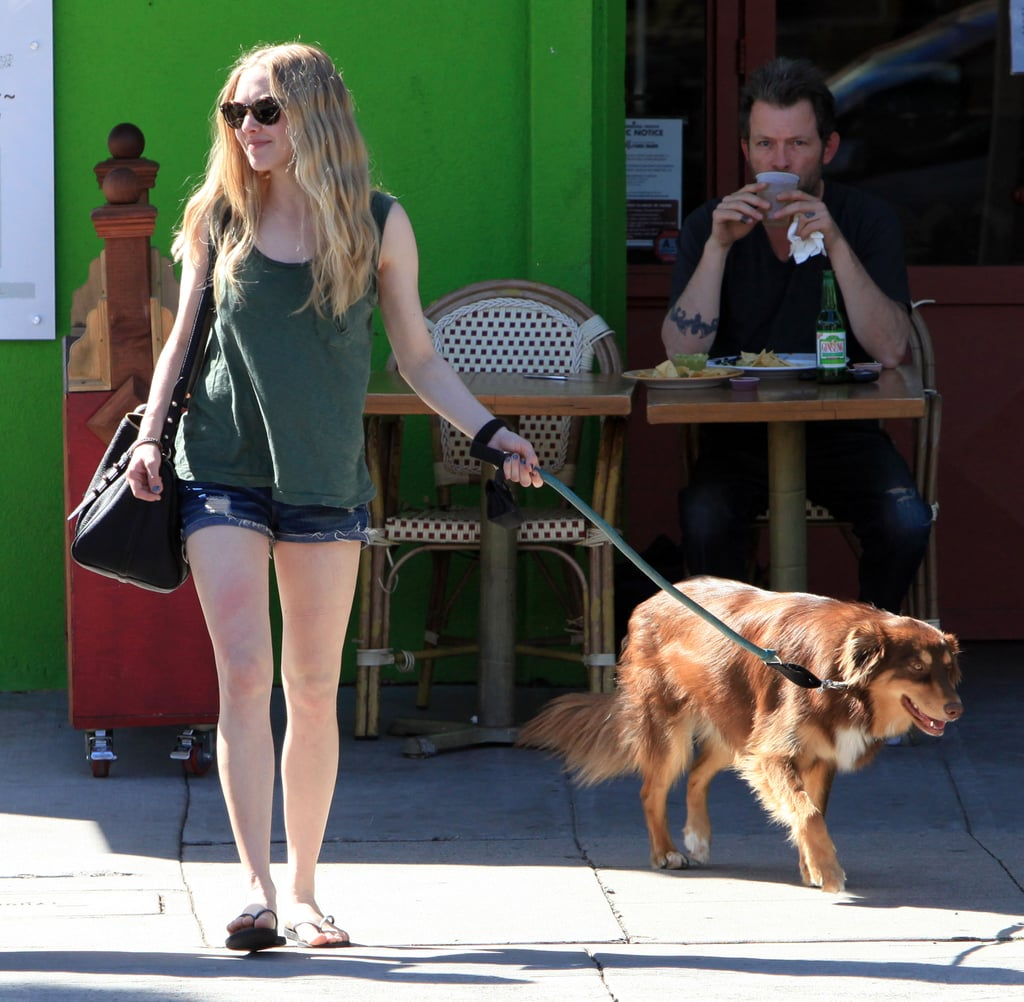 Amanda Seyfried Tends to Her Boys Ahead of Red Riding Hood's Opening Weekend