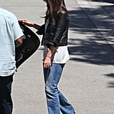 Katie Holmes Makes a Sleek and Shiny Exit While Untrue Drug Rumors Are Put to Rest