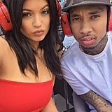Kylie Jenner and Tyga snapped a selfie in Monaco.