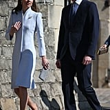 Kate Middleton Wearing a Blue-Gray Alexander McQueen Coat For Easter 2019