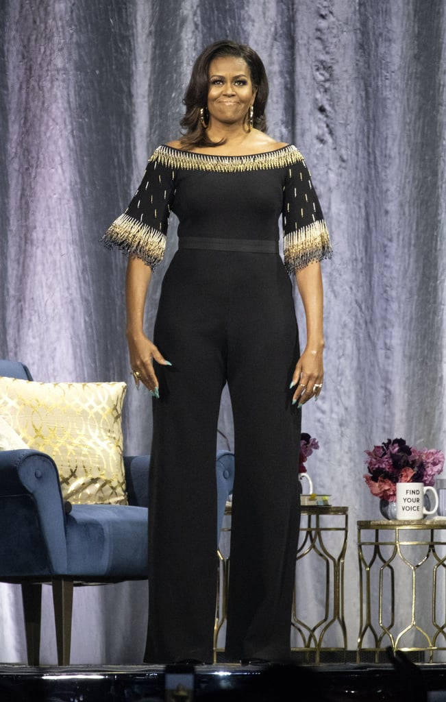 Michelle Obama Beaded Stella McCartney Jumpsuit on Book Tour