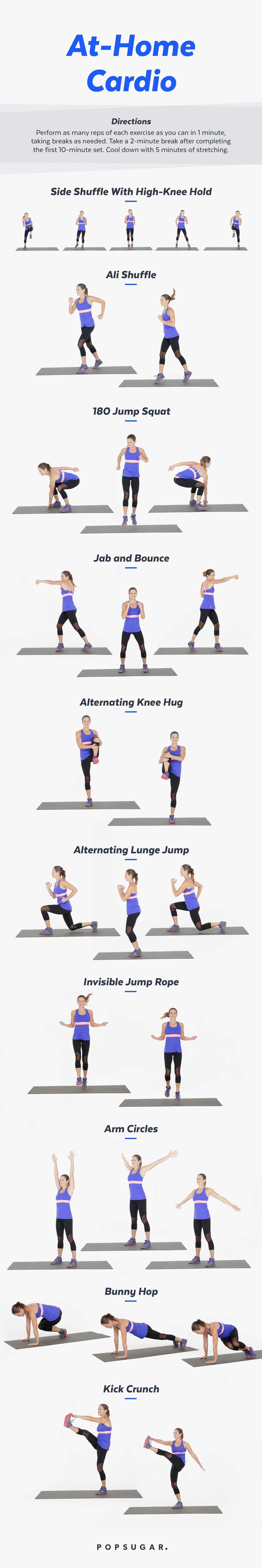... 20-minute cardio workout — it's part of our January Jump-Start fitness  plan. Click here for a printable version of this workout.