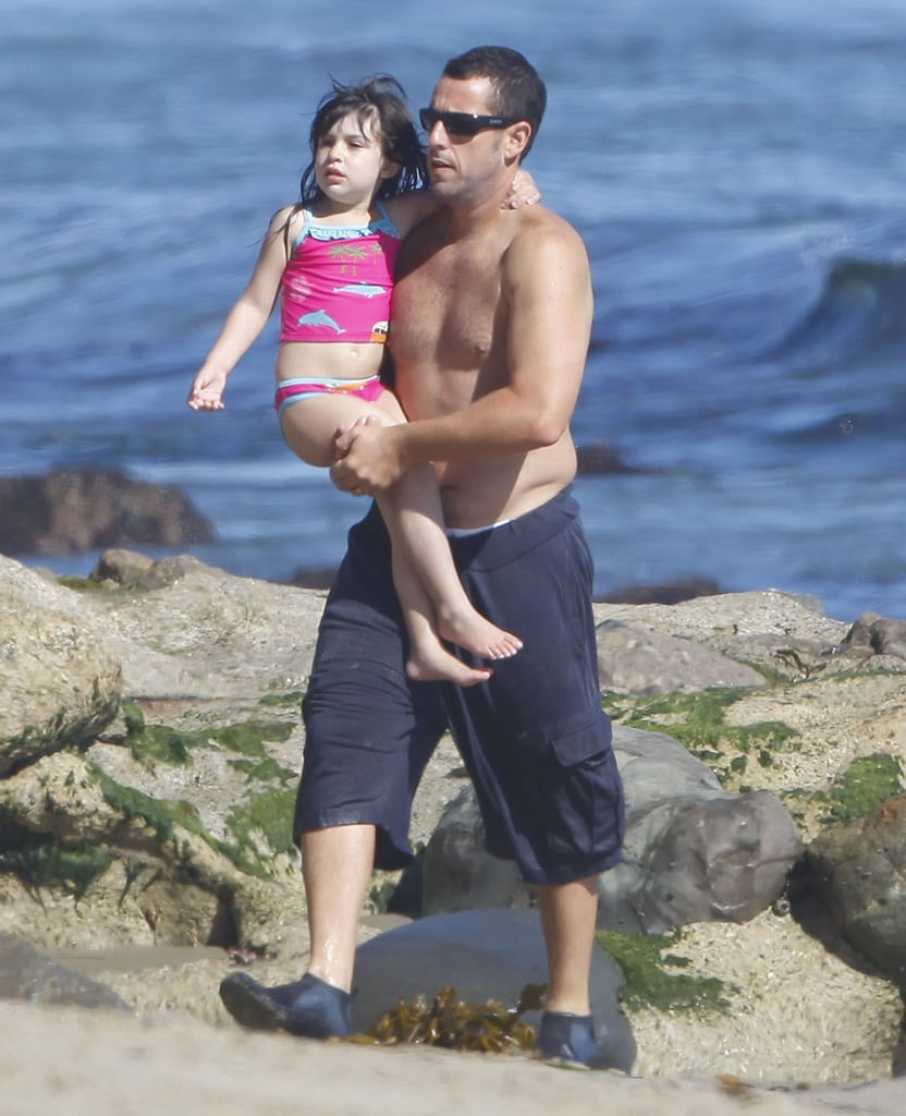 Adam Sandler enjoyed a day at the beach with daughter Sadie one Sunday in Malibu.