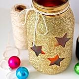 Glittering Gold Mason Jar