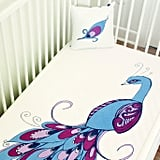Peacock Baby Crib Fitted Sheet
