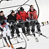 George Percy, Michael Middleton, and Pippa Middleton shared a chairlift in France.