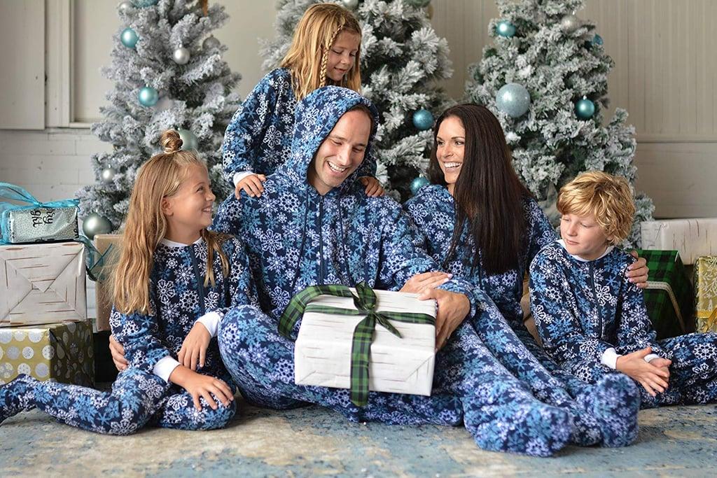 9b4daf71ce SleepytimePjs Family Matching Snowflake Onesie Pajamas