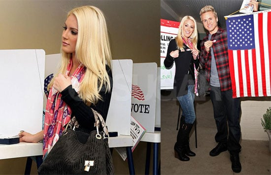 Photos of Heidi Montag and Spencer Pratt Voting for 2008 Presidential Election in Los Angeles; Heidi's Dad Praises Spencer