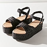 UO Rosalie Raffia Platform Sandals