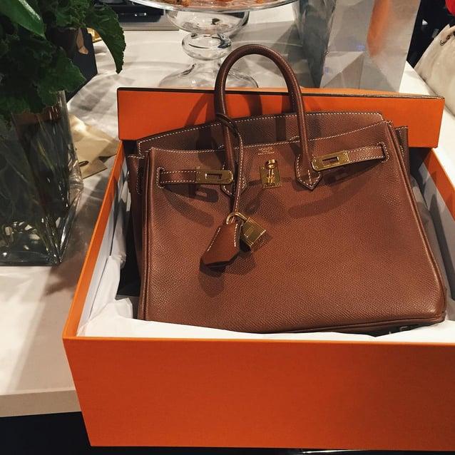 769b82d1e58 Kylie Was Gifted a Brown Birkin Bag