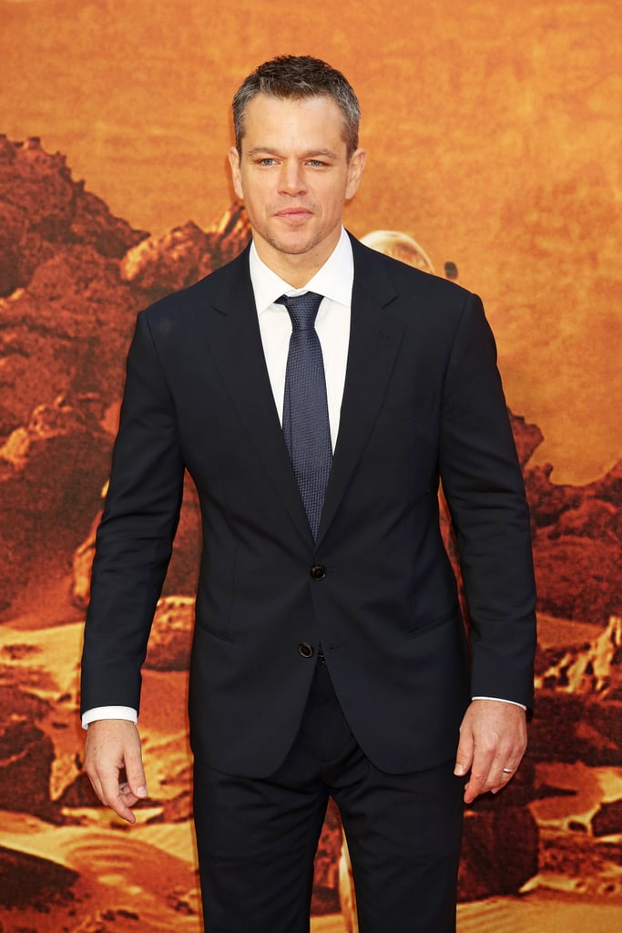 Matt Damon at The Martian Premiere in London