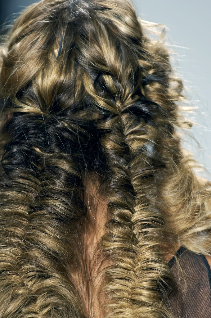 Autumn Winter and Spring Summer 2008 Catwalk Runway Hair Beauty Trend Fishtail Plaits as at Chloe, Giles, and Prada