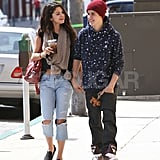 Selena Gomez and Justin Bieber went to lunch together.