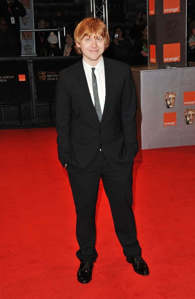 Pictures of Rupert Grint on BAFTAs Red Carpet 2011