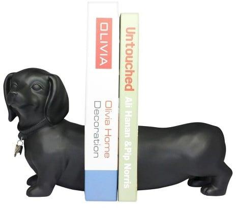 Danya B. Danya B Cement Dogs Bookend Set - Black