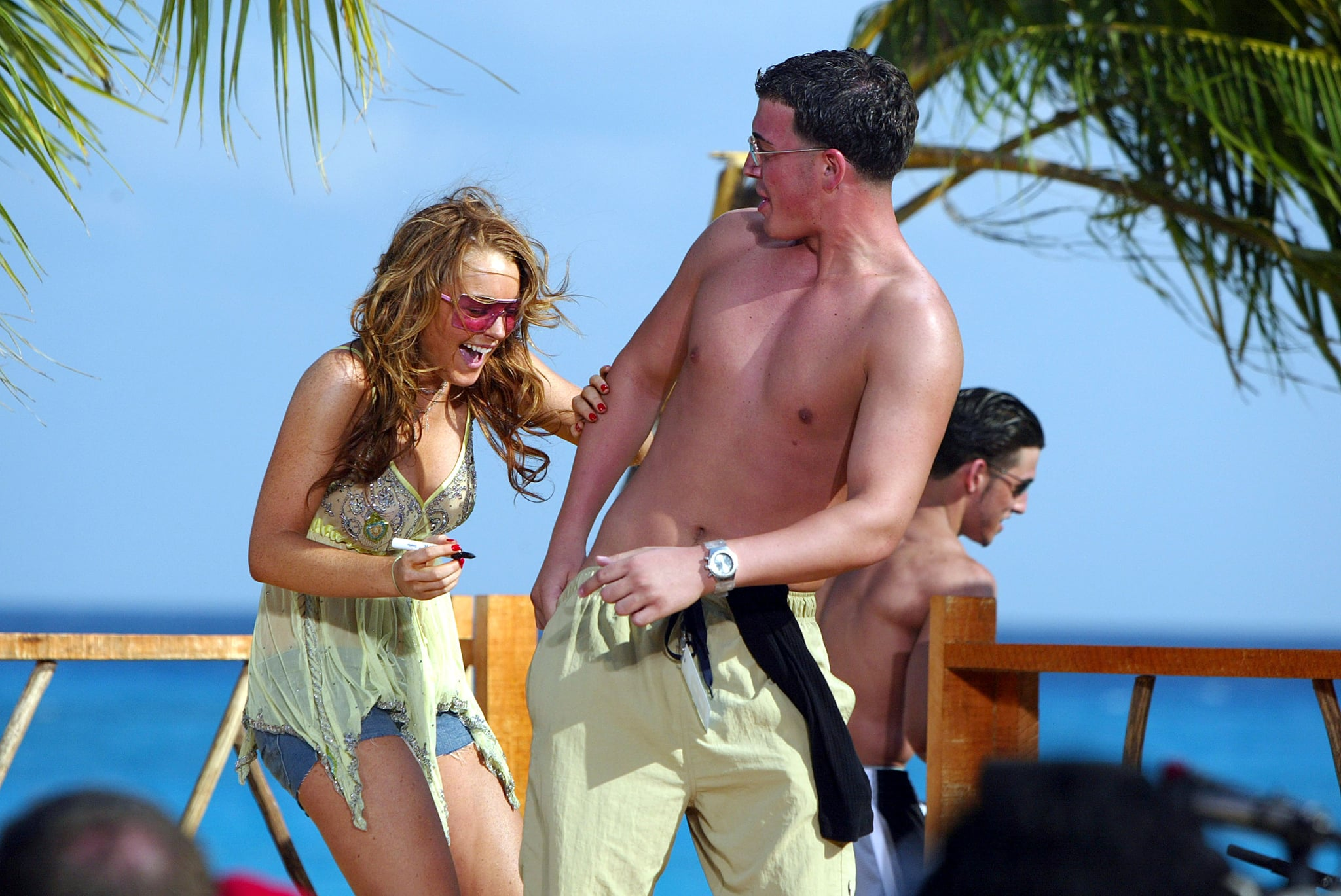 2004: Things get weird for Lindsay Lohan in Cancun.
