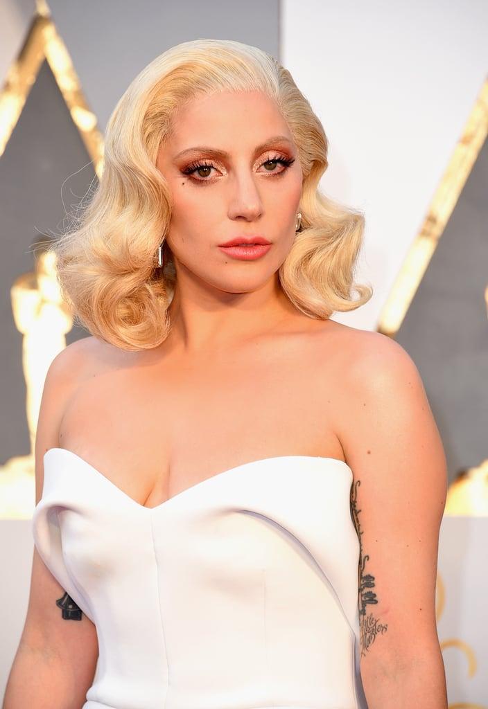 Lady Gaga at the 2016 Oscars