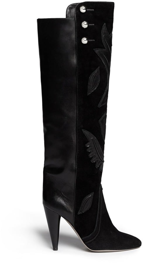 Isabel Marant Raven Leather Embroidery Knee High Boots ($2,205)
