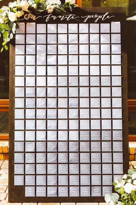 Our Favorite People Wedding Seating Chart Signage Sit Back