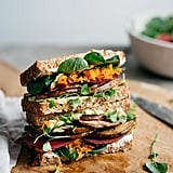 Avocado Club Sandwich With Marinated Portobello Mushrooms