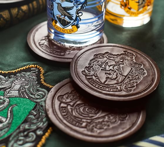 Harry Potter House Crest Leather Coasters