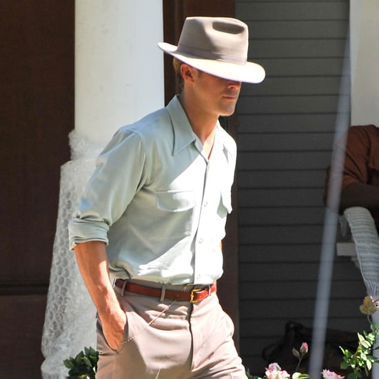 Ryan Gosling in a Hat on The Gangster Squad Set Pictures
