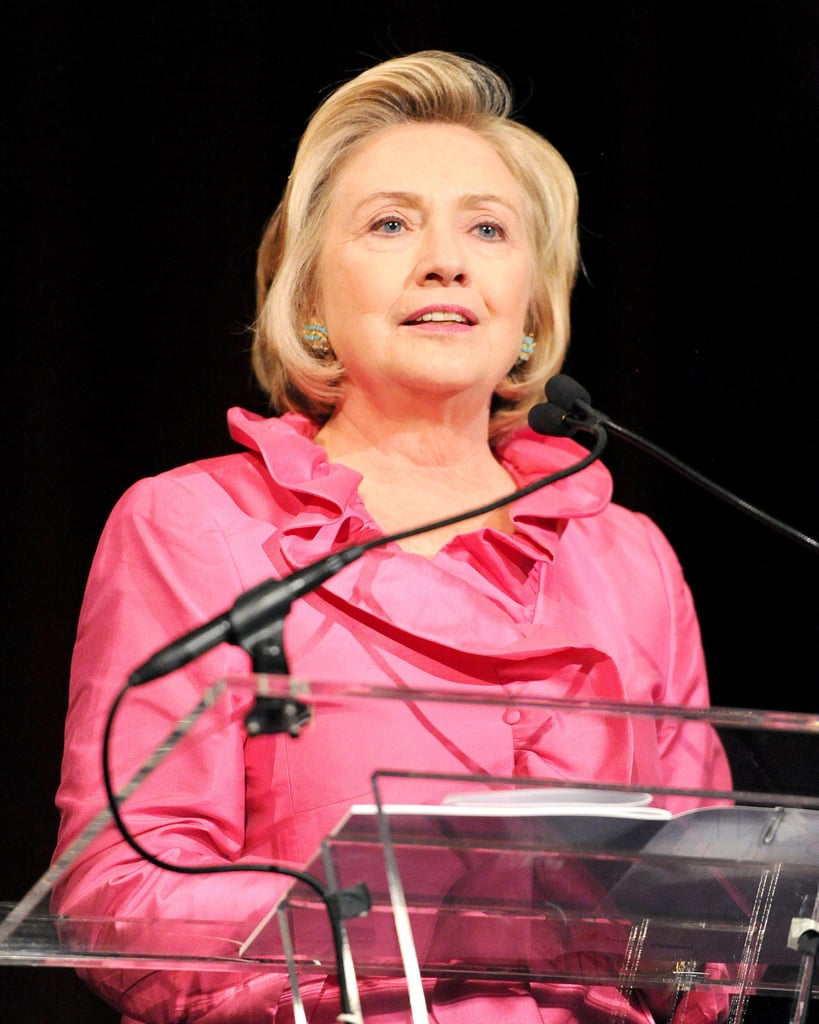 Hillary Clinton took the stage to speak at the Save the Children benefit gala in NYC.