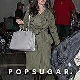 Angelina Jolie Carrying Gray Bag at Airport