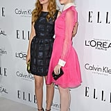 Ahna O'Reilly and Emma Stone posed for photos at the Elle Women in Hollywood Awards in LA.