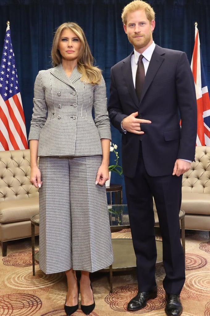 Melania Trump Wearing Checkered Dior Suit Popsugar