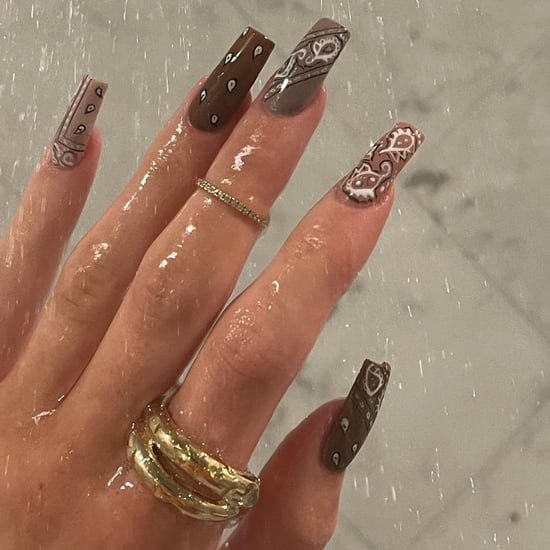 Bandana Nail Art As Seen on Kylie Jenner and Selena Gomez