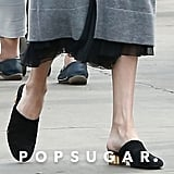 Angelina Jolie Tried to Stay Hidden in the Crowd, but With Shoes This Good, It's Hard