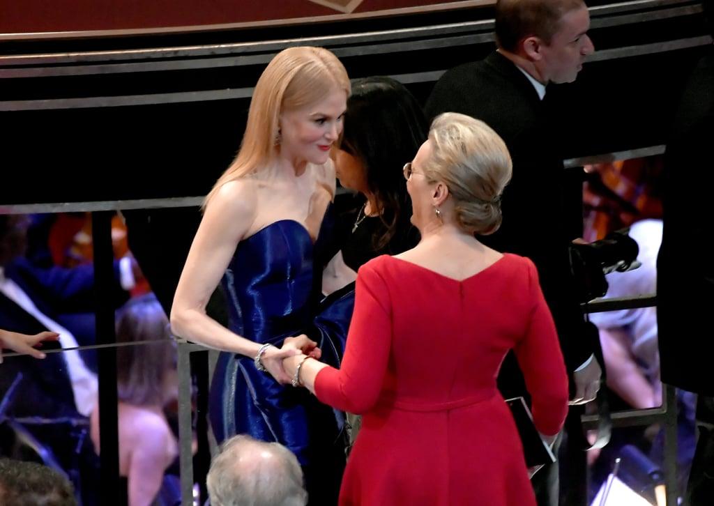 Meryl Streep and Nicole Kidman at the 2018 Oscars