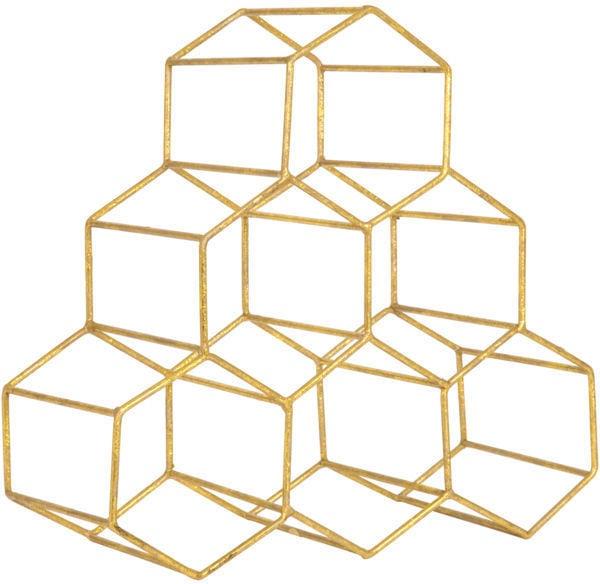 Golden Honeycomb Wine Rack