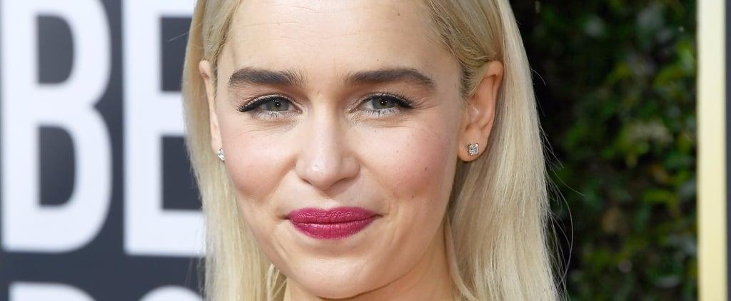 Emilia Clarke Celebrity Hair at the 2018 Golden Globes