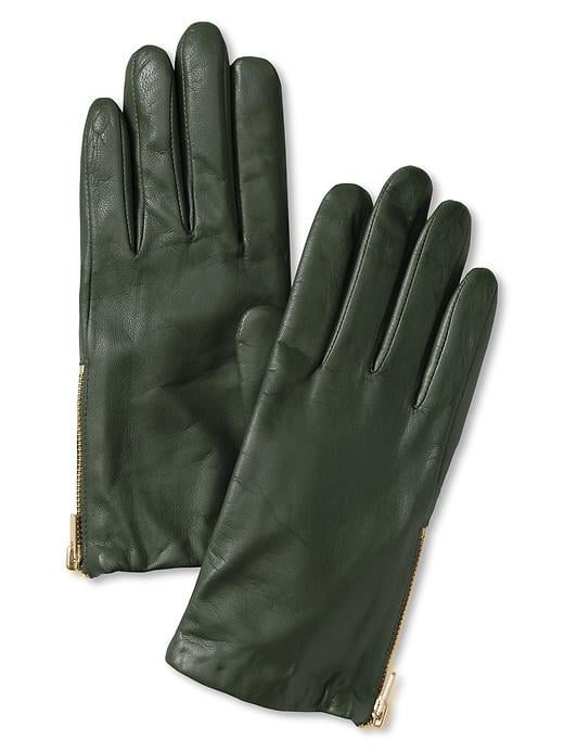 There's nothing quite as beautiful as green leather. These Banana Republic green leather gloves ($70) will help your sis keep her hands frostbite-free and fashionable.