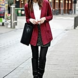 A floppy, bohemian hat plays opposites with a tomboy-style blazer. Source: Lookbook.nu