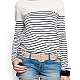 Stripes will never go out of style and we love how this one features a cute little pocket and gold button.  Mango Sailor Tee ($30)