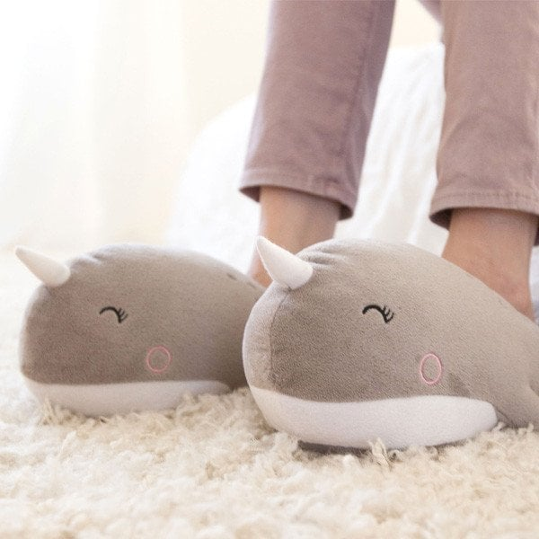 Narwhal and Unicorn USB Heated Slippers