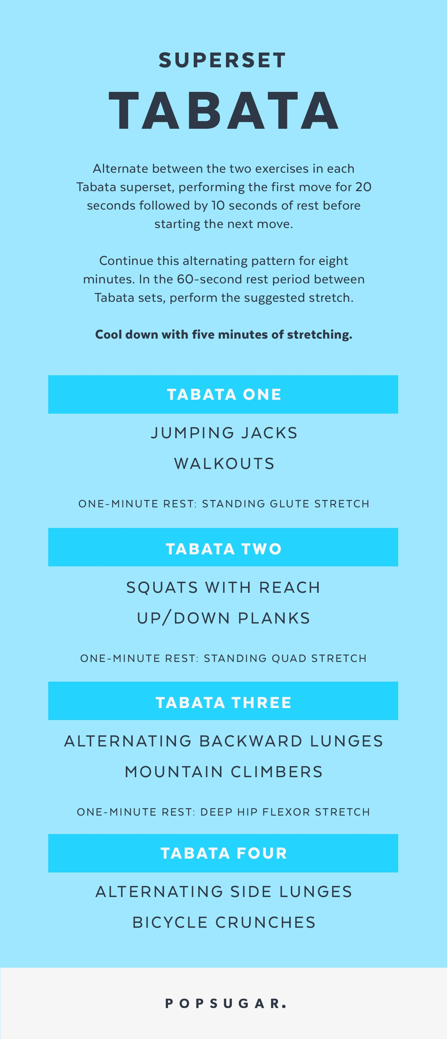 You Can Do This Printable Superset Tabata Workout Anywhere