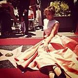 Jennifer Lopez celebrated her star on the Hollywood Walk of Fame in a gorgeous Dior gown. Source: Instagram user jlo