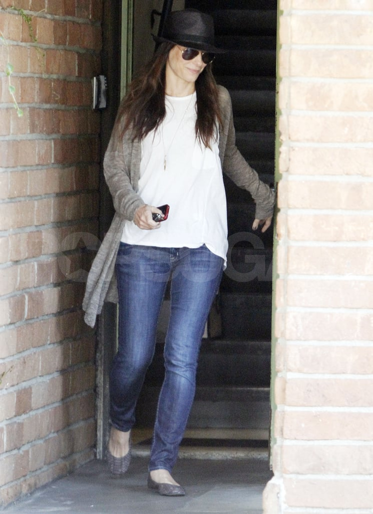 Sandra Bullock leaves work in LA.