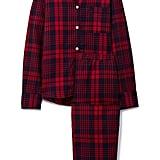 Three J NYC Etoile Checked Cotton-Flannel Pajama Set