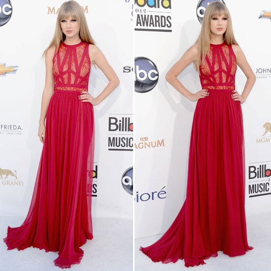 Taylor swift red dress lace