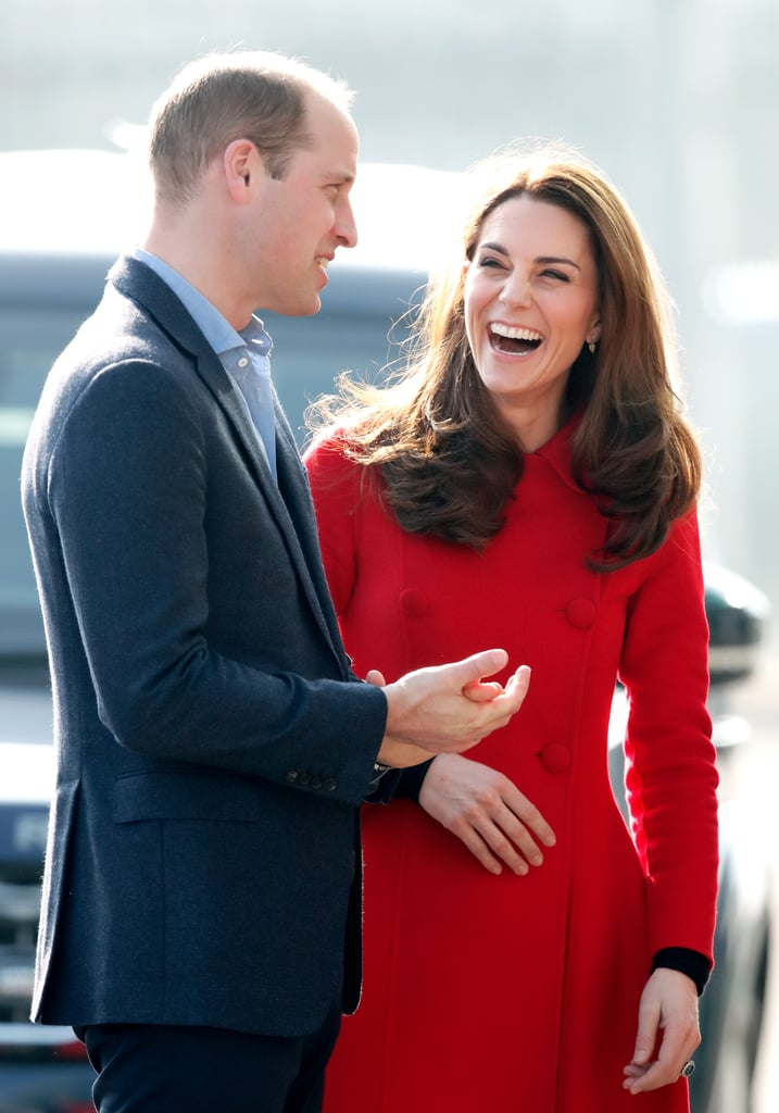 February: Kate and Will had a case of the giggles during their surprise trip to Northern Ireland.