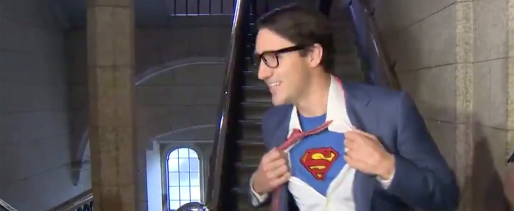 Justin Trudeau as Clark Kent For Halloween