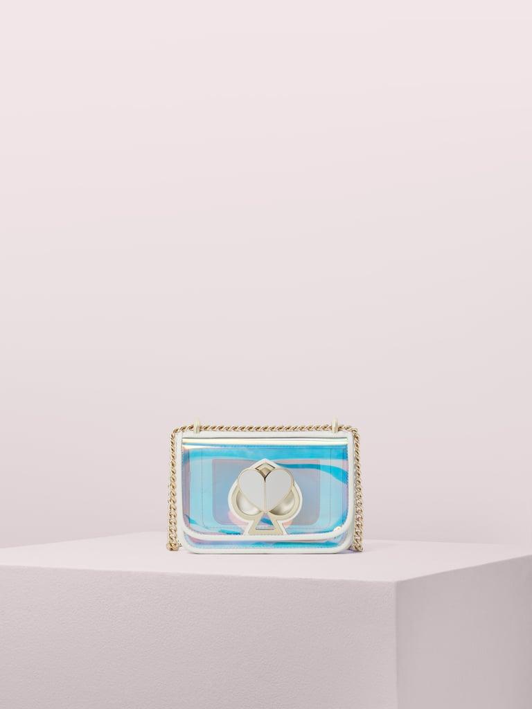 Kate Spade New York Nicola Iridescent Small Shoulder Bag in Optic White