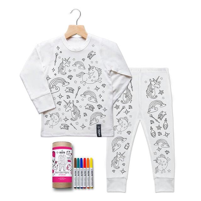 Color-In Unicorn Pajamas