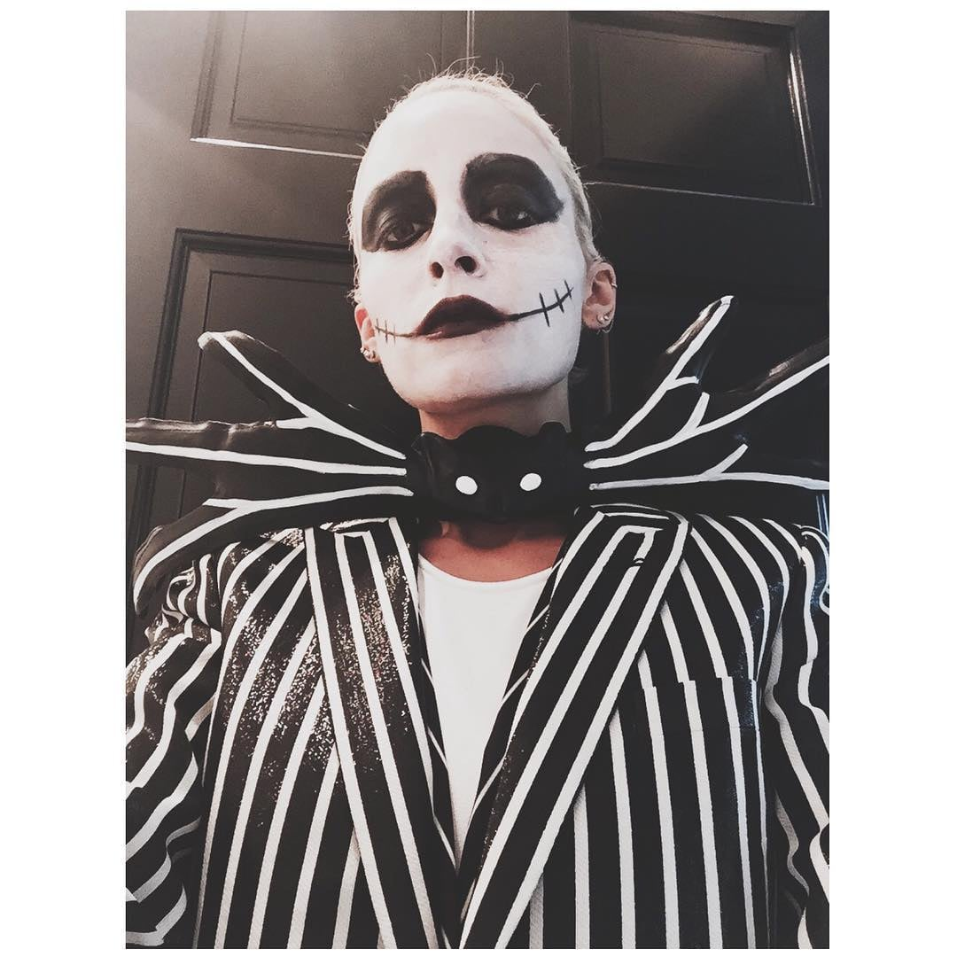 Nicole Richie totally nailed her Halloween costume by looking ahead into the upcoming holiday season for inspiration. The fashion designer and Candidly ...  sc 1 st  Popsugar & Nicole Richie as Jack Skellington For Halloween 2015 | POPSUGAR Latina