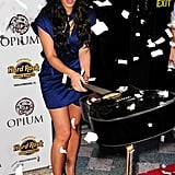 Kim Kardashian smashed a guitar (on purpose) at the grand opening of Seminole Hard Rock Hotel in Florida back in April 2009.
